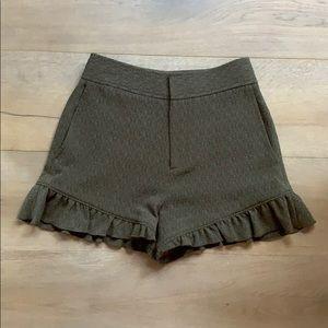 Club Monaco Army Green Shorts SIZE 00